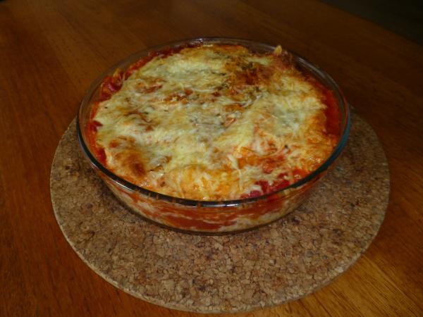 Tortilla Chips-Auflauf frisch aus dem Ofen